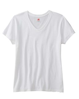 Ladies 4.5 Oz., 100% Ringspun Cotton Nano-T® V-Neck T-Shirt-
