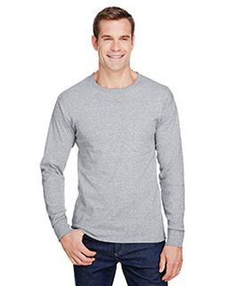 Adult Workwear Long-Sleeve Pocket T-Shirt-Hanes