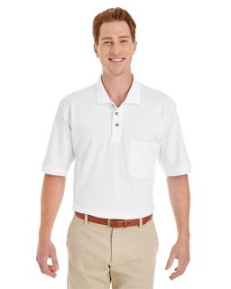 Adult 6 Oz. Ringspun Cotton Pique Short-Sleeve Pocket Polo-Harriton