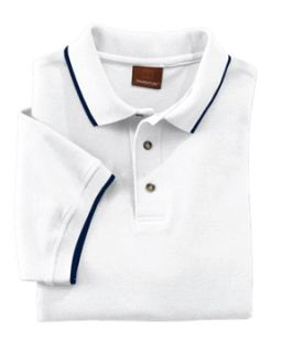 Adult 6 Oz. Short-Sleeve Pique Polo With Tipping-Harriton