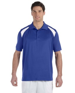 Adult 4 Oz. Polytech Colorblock Polo-Harriton