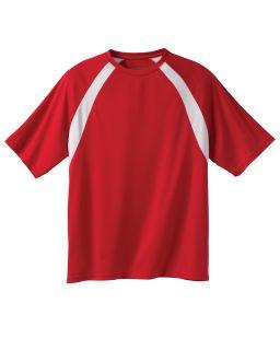 Adult 4.2 Oz. Athletic Sport Colorblock T-Shirt-Harriton