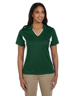 Ladies Side Blocked Micro-Pique Polo-