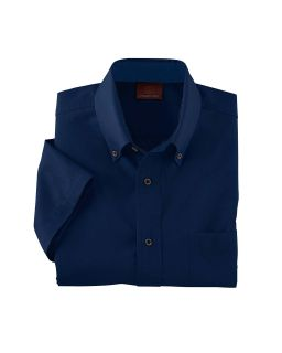 Mens Easy Blend™ Short-Sleeve Twill Shirt With stain-Release-