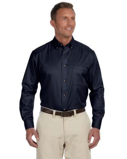 Mens Tall Easy Blend™ Long-Sleeve Twill Shirt With Stain-Release-