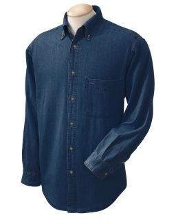 Mens 6.5 Oz. Long-Sleeve Denim Shirt-