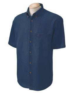 Mens 6.5 Oz. Short-Sleeve Denim Shirt-