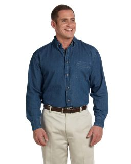 Mens Tall 6.5 Oz. Long-Sleeve Denim Shirt-