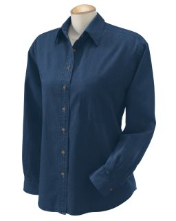 Ladies 6.5 Oz. Long-Sleeve Denim Shirt-Harriton