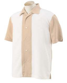 Mens Two-Tone Camp Shirt-