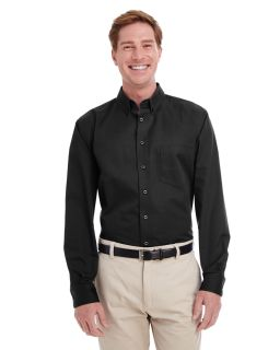 Mens Foundation 100% Cotton Long-Sleeve Twill Shirt With teflon™-