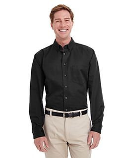 Mens Tall Foundation 100% Cotton Long-Sleeve Twill Shirt With Teflon™-