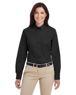 Ladies Foundation 100% Cotton Long-Sleeve Twill Shirt With teflon™-