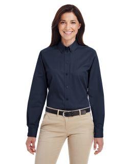 Ladies Foundation 100% Cotton Long-Sleeve Twill Shirt With teflon™-