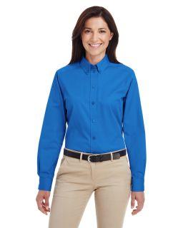 Ladies Foundation 100&#37 Cotton Long-Sleeve Twill Shirt With teflon™-