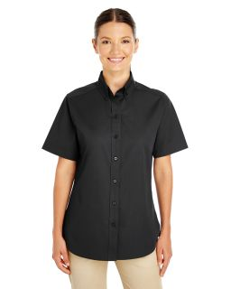Ladies Foundation 100% Cotton Short-Sleeve Twill Shirt With Teflon™