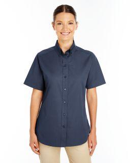 Ladies Foundation 100% Cotton Short-Sleeve Twill Shirt With Teflon™-Harriton