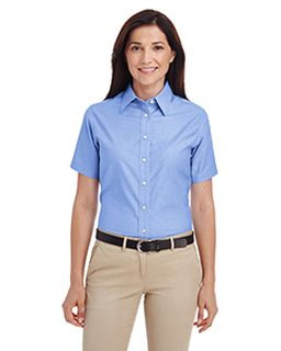 Ladies Short-Sleeve Oxford With Stain-Release