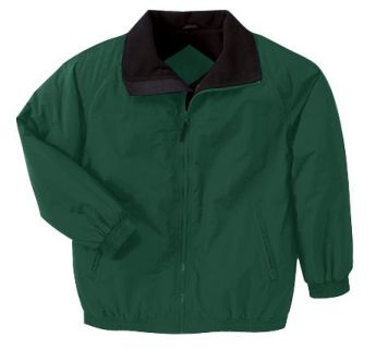 Adult Fleece-Lined Nylon Jacket-Harriton