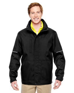 Adult Contract 3-In-1 Jacket With Daytime Hi-Vis Fleece Vest-Harriton
