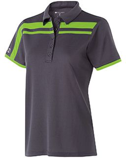 Ladies Polyester Closed-Hole Charge Polo-Holloway