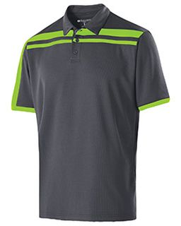 Adult Polyester Closed-Hole Charge Polo-Holloway