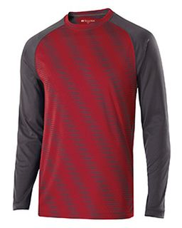 Adult Polyester Long Sleeve Torpedo Shirt-Holloway