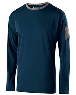 Adult Polyester Long Sleeve Electron Shirt-Holloway