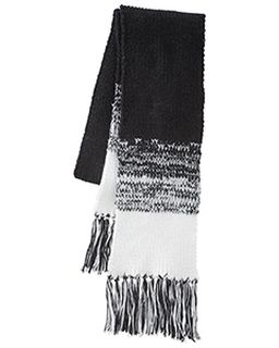 Acrylic Rib-Knit Ascent Scarf-