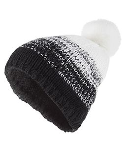 Acrylic Rib-Knit Ascent Beanie-Holloway