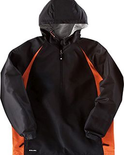 Adult Polyester 1/4 Zip Hooded Hurricane Jacket-Holloway