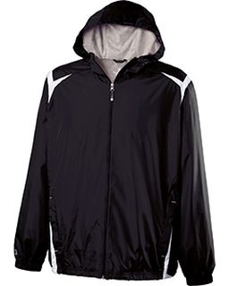 Adult Polyester Full Zip Hooded Collision Jacket-Holloway
