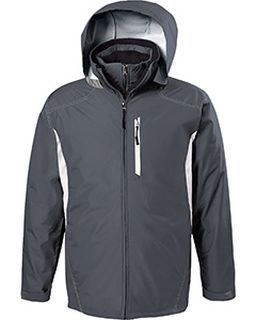 Adult Polyester Full Zip Hooded Interval Jacket-Holloway