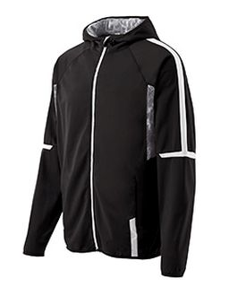Adult Polyester Full Zip Hooded Fortitude Jacket-Holloway