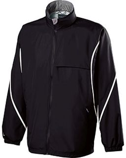 Adult Polyester Full Zip Hooded Circulate Jacket-