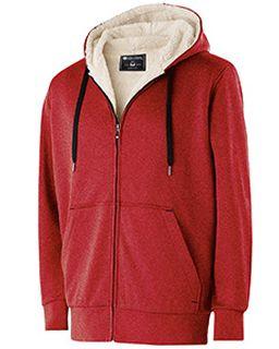 Adult Polyester Fleece Full Zip Artillery Sherpa Jacket-Holloway