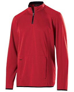 Adult Polyester Fleece 1/4 Zip Artillery Pullover-Holloway