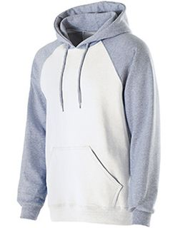 Adult Cotton/Poly Fleece Banner Hoodie-Holloway