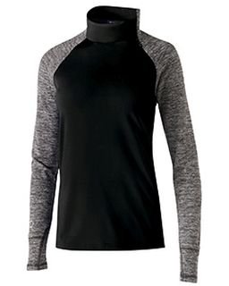 Ladies Polyester Fleece 1/4 Zip Affirm Pullover-Holloway