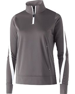 Ladies Polyester 1/4 Zip Determination Pullover-