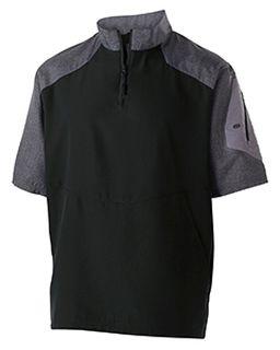Unisex Ultra-Lightweight Aero-Tec™ Raider Short-Sleeve Warm-Up Pullover-Holloway