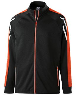 Youth Temp-Sof Performance Fleece Flux Warm-Up Jacket-Holloway