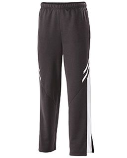 Youth Temp-Sof Fabric Performance Fleece Flux Straight-Leg Warm-Up Pant-Holloway