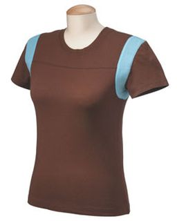 Ladies 3.5 Oz. Niagara Cotton Jersey Football T-Shirt-