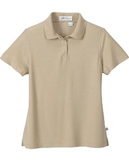Ladies Bamboo Rayon Recycled Polyester Jacquard Polo-