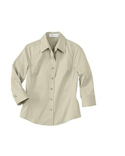 Ladies 3/4 Sleeve Solid Stretch Shirt-Il Migliore
