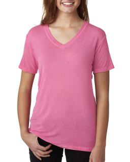Ladies Oasis Wash V-Neck T-Shirt-