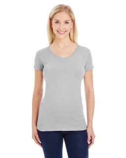 Ladies Glitter V-Neck T-Shirt-J America