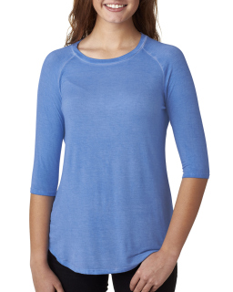 Ladies Oasis Wash 3/4-Sleeve T-Shirt-