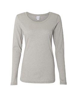 Ladies Glitter Long-Sleeve T-Shirt-J America